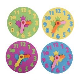 1 sztuka Dzieci DIY Eva Zegar Nauka Edukacja Zabawki Zabawy Puzzle Gry dla Dzieci 3-6 Lat losowy Kolor