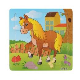 Dzieci Dzieci Drewniane Puzzle Zabawki Kształceniem Cartoon Zwierząt Puzzle Inteligencja Zabawki Lettre En Bois Najniższa Cena