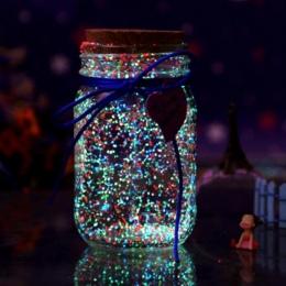Glow In The Dark 10g Świecenia Strona DIY Jasne Noctilucent Piasek Farby Star Wishing Butelki Fluorescencyjne Cząstki Kid Prezen