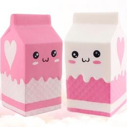 Squishy butelka mleka/can/box Wycisnąć Miękkie Powolne Rośnie Telefon Pasek Wisiorek Klucz Łańcucha Rolki Squishes PU Słodkie an