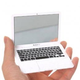 Śliczny MAKIJAŻ Kieszonkowy Mini Laptop Stylu Jasne Szklane Kobiety Kosmetyczne Uroda Lustro Moda Notebook Formularz Praktyczne