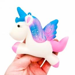 13.5 CM Symulacja Jednorożec Kucyk Koń Squishy Zabawki Latające Powolne Rośnie Wycisnąć Lalka Zabawy Rekwizyty Żarty Pranks Eksp